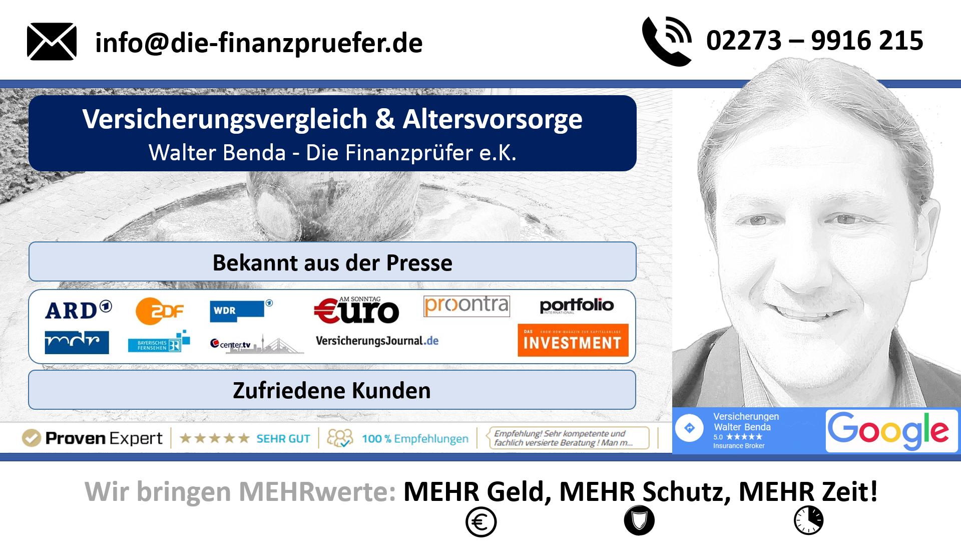 Visitenkarte Die Finanzprüfer e. K. Flyer Kerpen