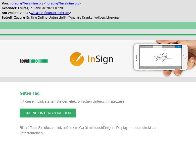 Online Antrag Einladung