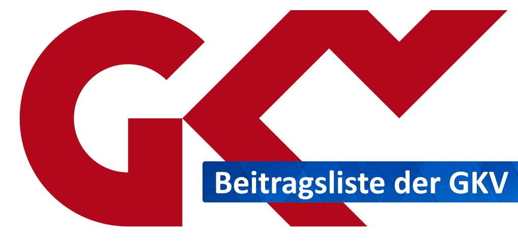 GKV Beitragsliste
